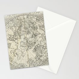 Antique Northern Celestial Hemisphere Map Stationery Cards
