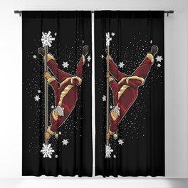 Pole Dance Santa Claus - Pole Fitness Dancing Blackout Curtain