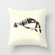 falling to pieces Throw Pillow