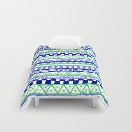 Blue Green Purple Pattern Comforters