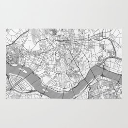 Seoul Map Line Rug