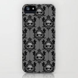 Halloween Damask Grey iPhone Case
