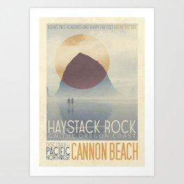 Haystack Rock of Cannon Beach, Oregon Art Print
