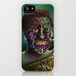 Maori Warrior 4 iPhone Case