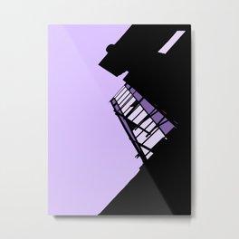 New York Fire Escape - Purple Metal Print
