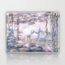 Water Lilies Monet Steel Blue Gray Laptop & iPad Skin