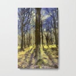 Peaceful Forest Van Gogh Metal Print