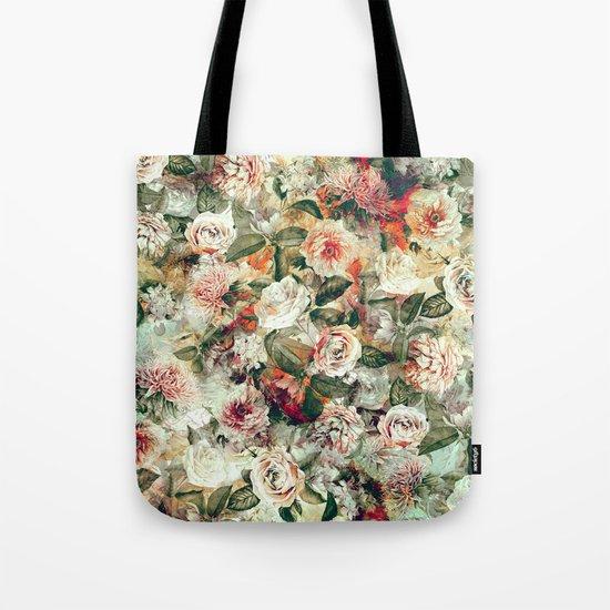 Floral Pattern RPE121 Tote Bag