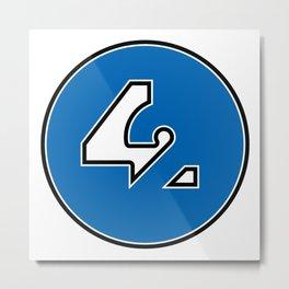 42 - Blue Metal Print