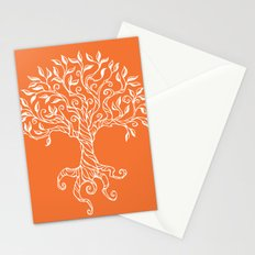 Tree of Life Orange Stationery Cards