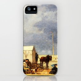 Bathing Time at Deauville - Digital Remastered Edition iPhone Case
