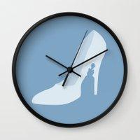 cinderella Wall Clocks featuring Cinderella by Citron Vert