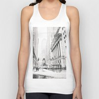 new york city Tank Tops featuring New York City Christmas by Vivienne Gucwa