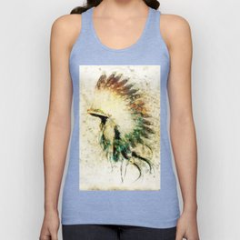 Native American Boho Headdress Sideview Unisex Tank Top