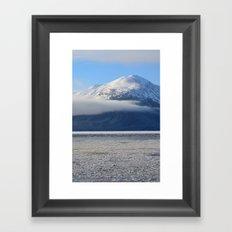 Winter Fog - Turnagain Arm, Alaska Framed Art Print