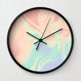 abstract rainbow gradient blurry background Wall Clock