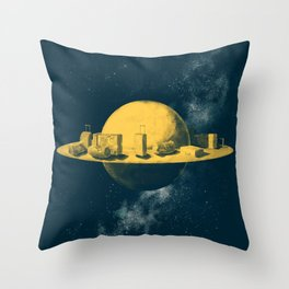 About space travels and living on Mars Throw Pillow