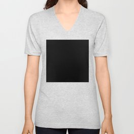 #000000 PURE BLACK Unisex V-Neck