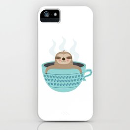 Sloth In A Cup iPhone Case