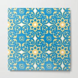 Blue Yellow Boulevard Metal Print