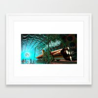 steam punk Framed Art Prints featuring Steam Train Punk by Goodson Productions