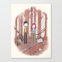eternal sunshine of the spotless mind Canvas Prints featuring eternal sunshine of the spotless mind by yohan sacre