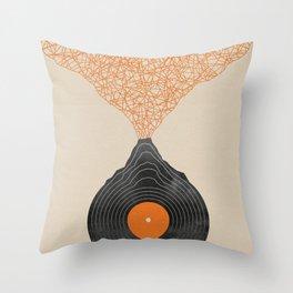 Vinyl Volcano (orange remix) Throw Pillow