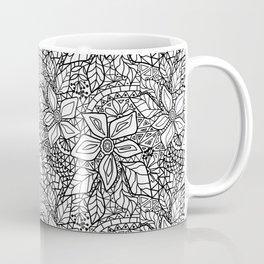 Black and white lace pattern 2 Coffee Mug