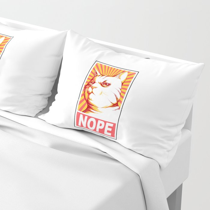 Obey Cats Pillow Sham