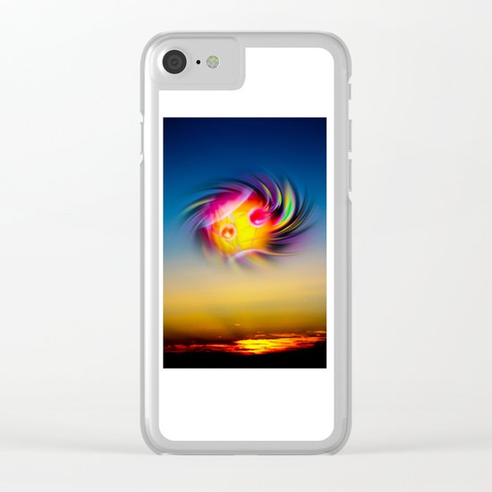 Sunrise 7 Clear iPhone Case