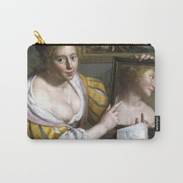 Paulus Moreelse - A girl with a mirror, an allegory of Profane Love Carry-All Pouch