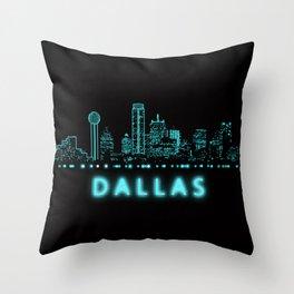 Digital Cityscape: Dallas, Texas Throw Pillow