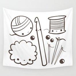crochet cute - kawaii craft supplies Wall Tapestry