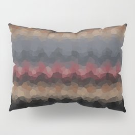 "Abstract pattern ""Black and red wave"" . Pillow Sham"