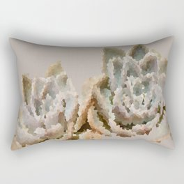 Crystal rock roses Rectangular Pillow
