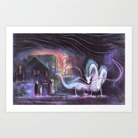 spirited away Art Prints featuring Spirited Away by snowmarite