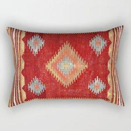 Çal  Antique Turkish Kilim Print Rectangular Pillow