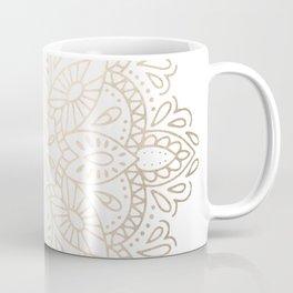 Mandala White Gold Shimmer by Nature Magick Coffee Mug