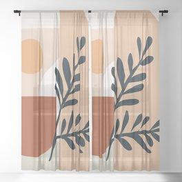 Geometric Shapes Sheer Curtain