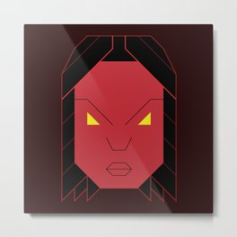 Red She Hulk Metal Print