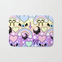 Pastel Goth Collage Bath Mat
