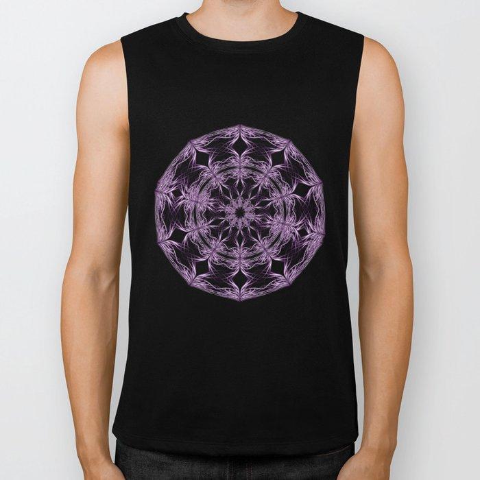 Mandala purple and black Biker Tank