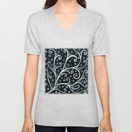 Midnight Branching Unisex V-Neck