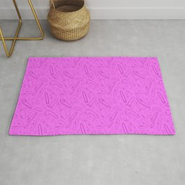 Pink Vibrator and Dildo Sex Toy Collection Rug