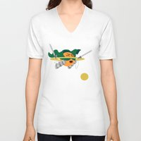 attack on titan V-neck T-shirts featuring Saturn's Attack on Titan by ChronoStar