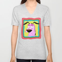 Stupid Dog Pink Dog Unisex V-Neck