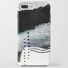 Closer - a black, blue, and white abstract piece iPhone Case