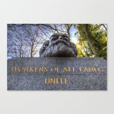 Karl Marx Memorial Canvas Print