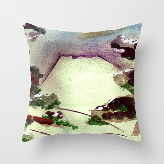 Japanese Mountain 2 Throw Pillow
