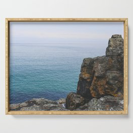 Turquoise Sea, St Ives Cornwall - Seascape Photography Serving Tray